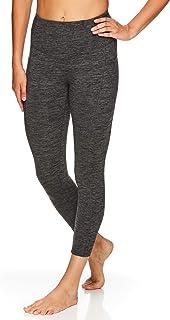 Gaiam Women's Capri Yoga Pants - Performance Spandex Compression Legging