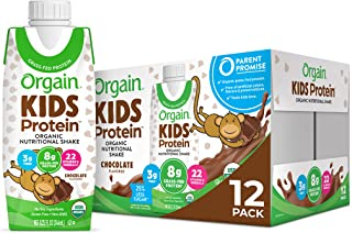 Orgain Organic Kids Protein Nutritional Shake, Chocolate - Great for Breakfast & Snacks, 22 Vitamins & Minerals, Fruits & ...