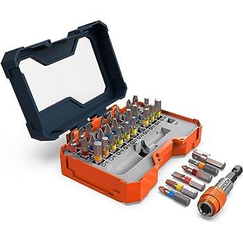Presch juego caja 32 puntas - puntas magnéticas con soporte de cambio rápido - para destornillador eléctrico: Amazon.es: Bricolaje y herramientas