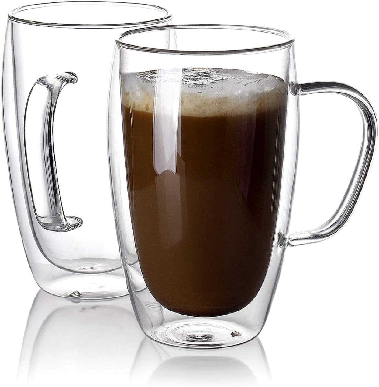 Sweese 416.101 Glass Coffee Mugs Set of 2 Super popular specialty store Ins Wall - Double Tall Attention brand