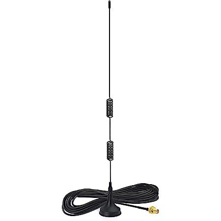 Bingfu Dual Band VHF UHF 136-174MHz 400-470MHz Ham Radio Antenna Handheld Two Way Radio Magnetic Base SMA Female Antenna for Kenwood Wouxun BaoFeng BF-F8HP UV-5R UV-82 BF-888S Ham Radio Walkie Talkie
