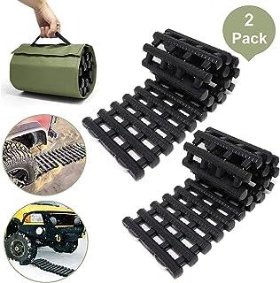 Jolitac 2 Stück Traktionshilfe Anfahrhilfe Anfahrtshilfe Set Sandmatte Tracking Mat bei Schnee, EIS oder Matsch 80 x 22 cm
