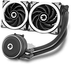Liquid Cooler All-in-One, Performance Dual Addressable RGB Fans with Software Control, GAMEMAX ICEBERG-240-RAINBOW