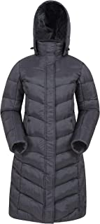 Mountain Warehouse Alexa Womens Padded Jacket - Water Resistant, Lightweight, Storm Flap, Adjustable Hoodie, Pockets - - Ideal for Autumn & Wet Weather