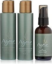 Agave Healing Oil - Smoothing Trio. Anti-Frizz Hair Treatment Set Hydrates & Heals Damaged Hair....