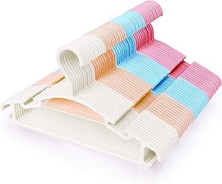 Lot de 48 Cintres pour Bébé Antidérapant,Durables Cintres en Plastique,Vêtements Enfants Bébés de Stockage Cintres en Mult...