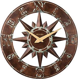 Bulova Nor'Easter C4873 Nor'Easter Indoor/Outdoor Wall Clock, Bronze