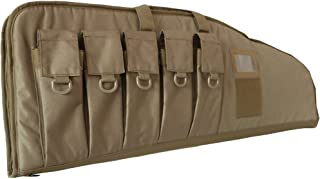 ARMYCAMOUSA Rifle Bag Outdoor Tactical Carbine Cases Water dust Resistant Long Gun Case Bag with Five Magazine Pouches for Hunting Shooting Range Sports Storage and Transport
