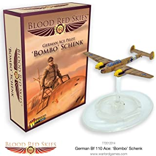 Blood Red Skies German Ace 'Bombo' Schenk 1:200 Bf 110 WWII Mass Air Combat War Game