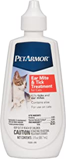 PetArmor Ear Mite and Tick Treatment for Cats, 3 oz