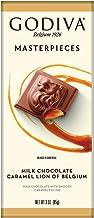 Godiva Chocolatier Milk Chocolate Caramel Lion Masterpieces Tablet, Chocolate Treats, Chocolate Candy Bar, Gourmet Chocolate, 3 oz