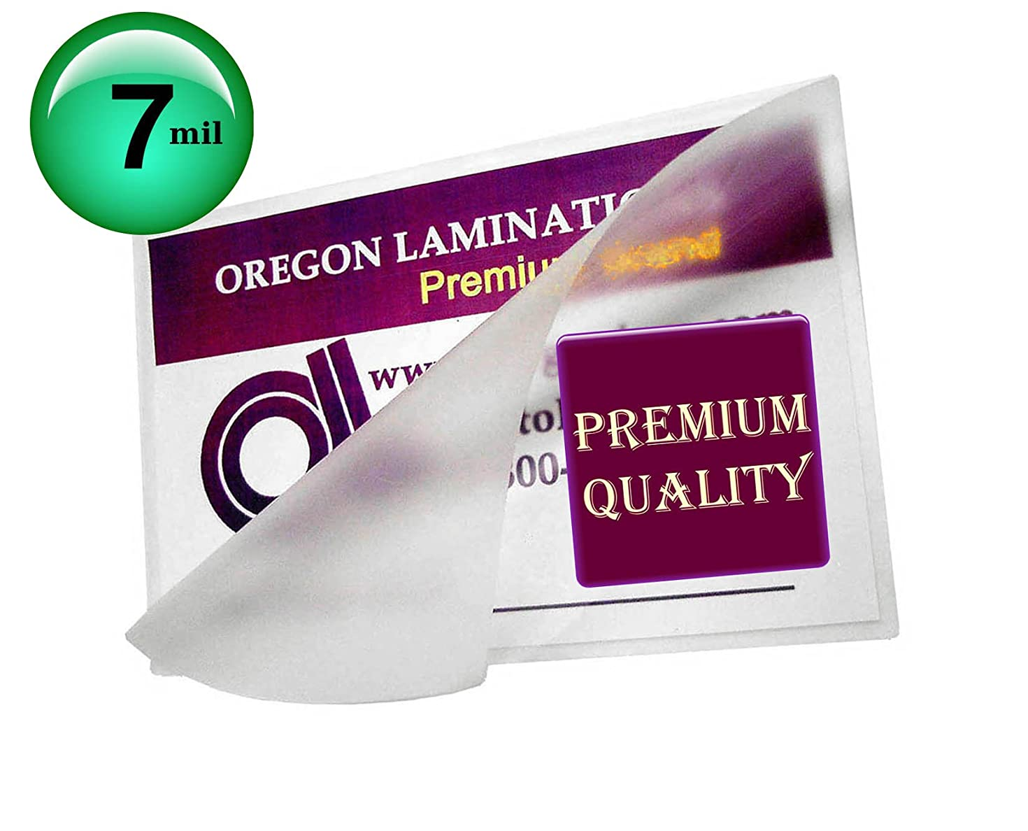 Qty 1000 Business Card Laminating Pouches 7 Mil 2-1/4 x 3-3/4 Hot Sleeves