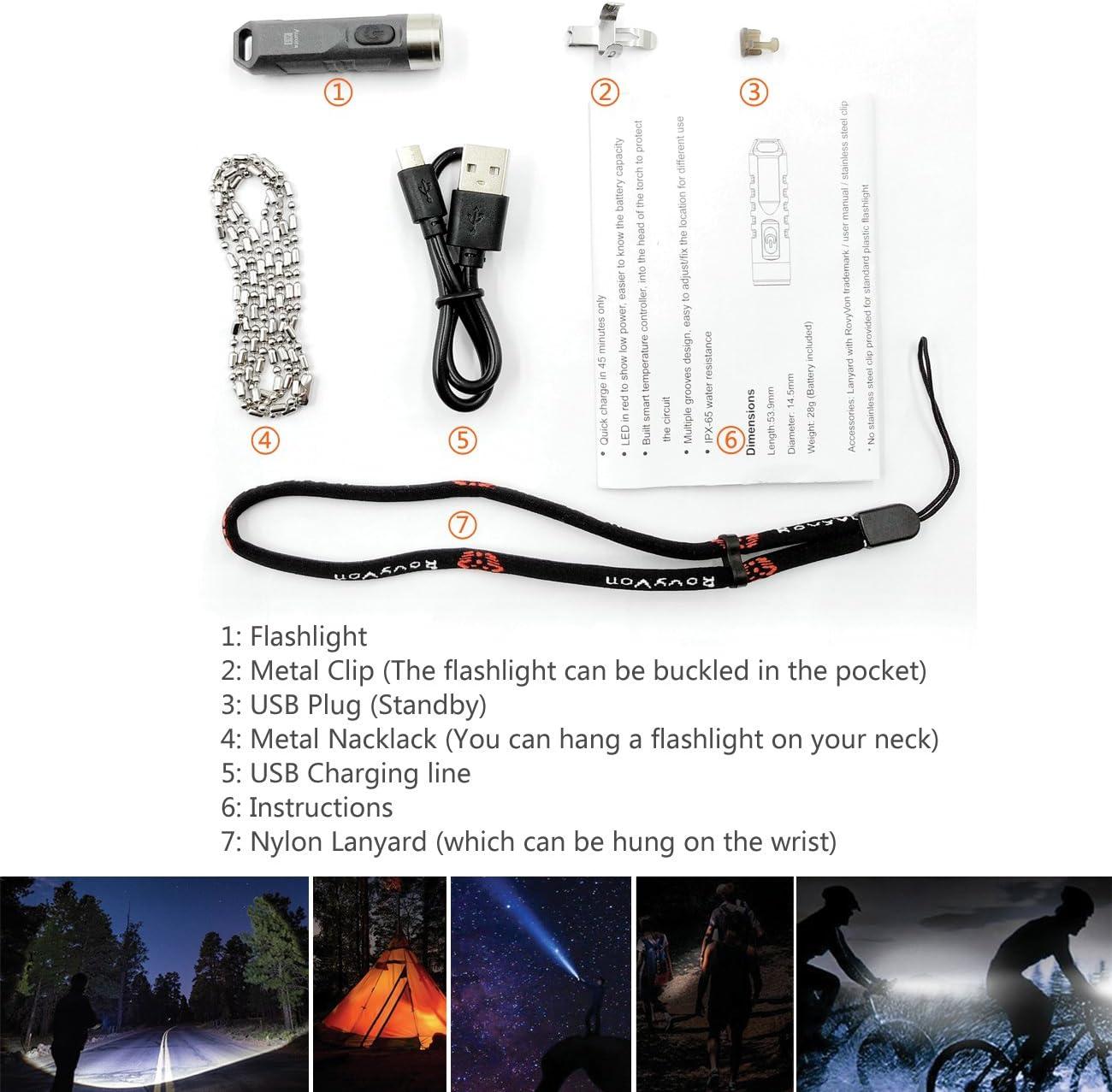 Led Flashlight Rechargeable 550 Lumens Mini Flashlight Led Waterproof Small Flashlight for Camping 4 Modes Black