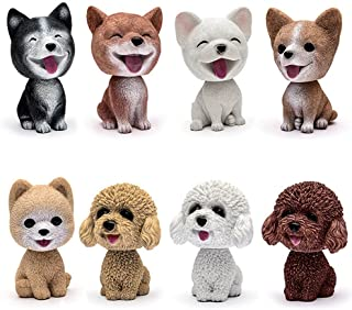 Comidox Handmade childhood memory BobbleHead Dogs Car Dash Puppy for Car Vehicle decoration rocking head dog made by superior Natural Resin Corgi 1pc