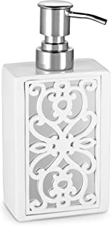 Dwellza Mirror Janette Hand Soap Dispenser (3 x 2 x 7.2) - Countertop Hand Lotion Pump- Durable Metal Mechanism- Contempor...