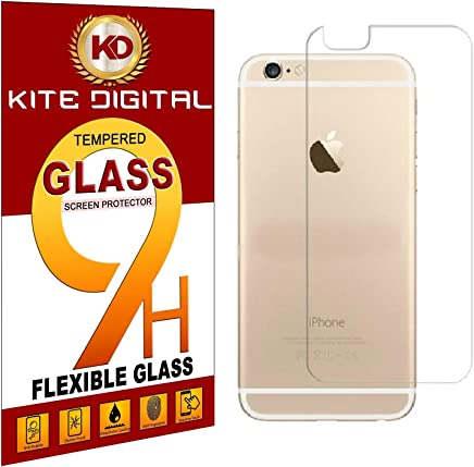 Kite Digital iPhone 6/6S Back Premium Tempered Glass Screen Protector Slim 9H Hardness 2.5D