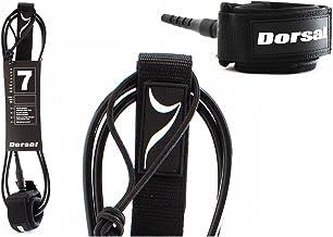 DORSAL Premium ProComp - Correa de Surf para Tabla de Surf, 6, 7, 8, 9, 10 pies, Color Negro