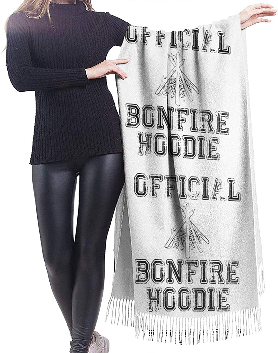 Bonfire Cashmere Shawl Wrap Scarf Large Warm Scarf For Women