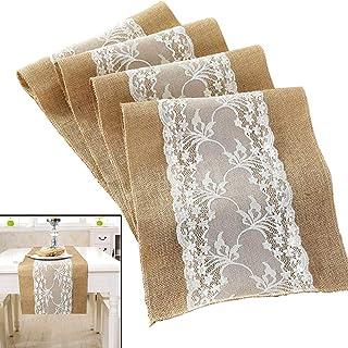 in tessuto decorativo 1 rotolo da 20 m x 15 cm battesimo vintage matrimonio bianco per matrimonio Runner da tavola in pizzo comunione