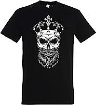 T-shirt doodshoofd met kroon, King Scull, Crown, F...