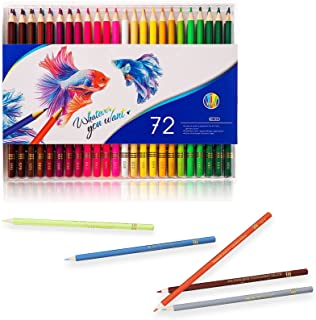 72 Pack Multi Colored Pencil Set, Premier Colored Pencils Soft Core for Adult Coloring, Drawing Arts & Sketching, Coloring...