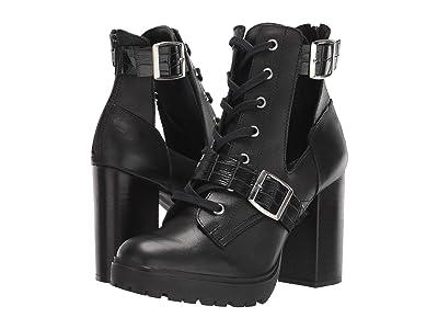 Steve Madden Lazlo Ankle Bootie (Black Leather) Women