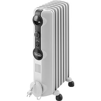De'Longhi TRRS0715 Radiatore ad Olio Elettrico, 7 elementi, 1500 W, Bianco