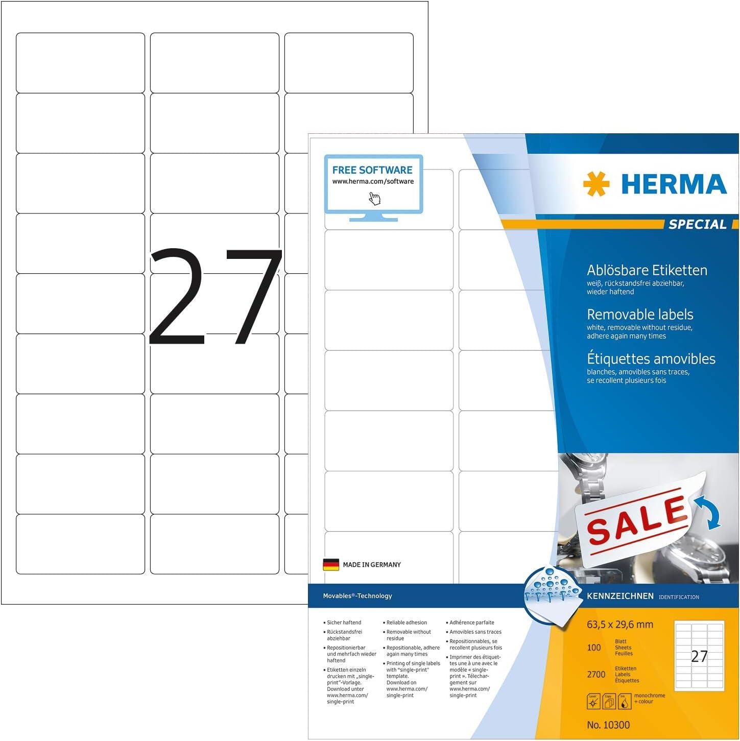 Herma 10301 Adressaufkleber Din A4 Ablosbar 2