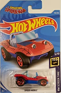 Hot Wheels 2019 Basic Mainline Hw Screen Time: The Amazing Spider Man - Spider Mobile