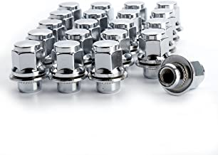 KSP 20PC 12x1.5 Thread Pitch, Hex 13/16'' (21mm) Chrome Mag Style Lug Nuts with Washer Closed End for Factory Aluminum Wheels, OE Lug Nuts