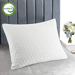 Bestobal Shredded Memory Foam Pillows for Sleeping King Size Luxury Bamboo Cooling Neck Support Bed Pillow-Adjustable Loft, Hypoallergenic, Machine Washable Cover, Stomach Side Back Sleeper