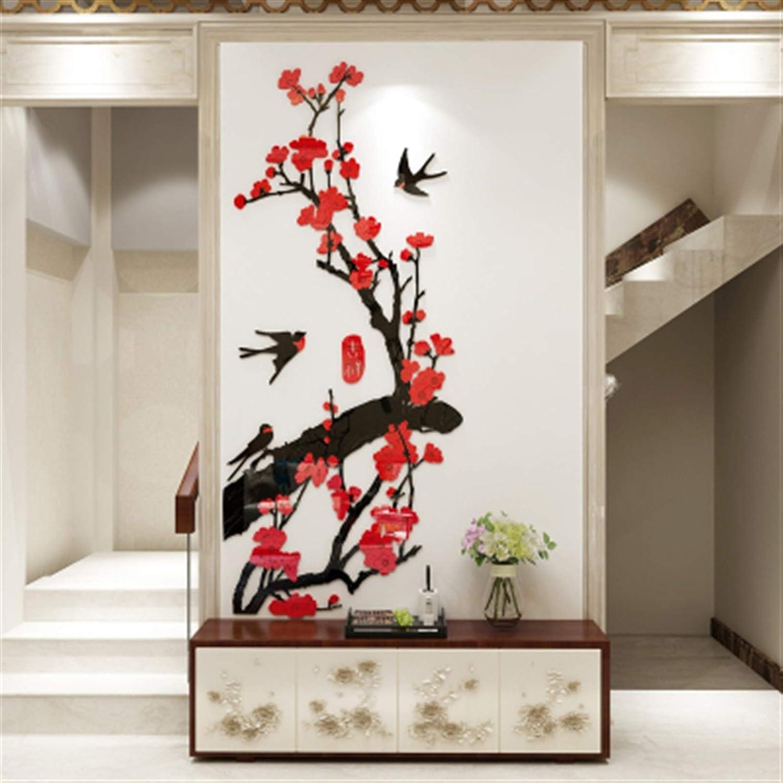 specialty shop Universal 2021 model Wall Sticker Mural Decoration Flower Acrylic Plum