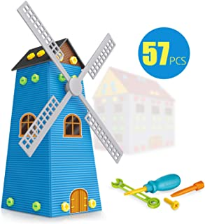 EXERCISE N PLAY DIY STEM Learning Educational Construction Engineering Building Blocks Set (Windmill)