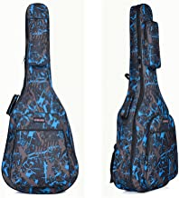 Quality Assurance Water-resistant Oxford Cloth Camouflage Blue Double Stitched Padded Straps Gig Bag Guitar Carrying Case for 40 41 Inches Acoustic Classic Folk Guitar