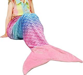 Catalonia Kids Mermaid Tail Blanket,Super Soft Plush Flannel Sleeping Snuggle Blanket for..