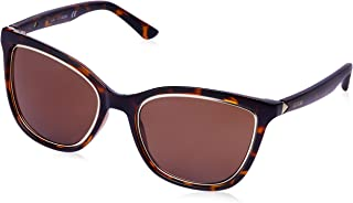 Guess Women's Fashion Sun GU 7467 52E Sunglasses, Brown, 54 mm