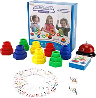 LUKAT Family Board Games for Kids and Adults, Great Stacking Toys for 2 to 4 Players, Educational Building Blocks for Toddlers Boys & Girls, Gift for Ages 3,4,5,6,7 Years Old
