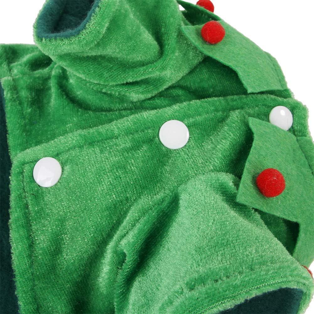 Outfit Elfen KRISWU 6-teiliges Weihnachtskost/üm-Set f/ür Hunde Hundezubeh/ör warmer Mantel f/ür Hunde und Katzen Welpen Set Rollenspiel Winter Kleidung