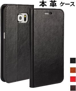 DeftD Galaxy S6 用 SC-05G docomo ケース 本革 レザー 手帳型 携帯 カバー シンプル ビジネス風 耐衝撃 横開き カード収納 スタンド機能 スマホケース ブラック