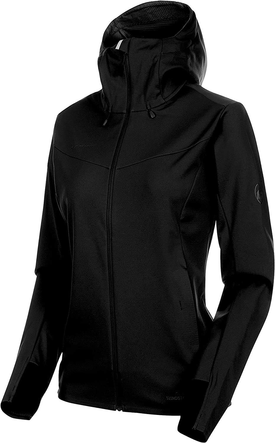 (blackblack, Large)  Mammut Ultimate V SO Hooded Jacket Women