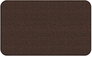 House, Home and More Indoor Outdoor Double-Ribbed Carpet Area Rug with Skid-Resistant Rubber Backing - Bittersweet Brown -...