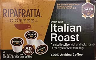 Ripafratta Italian Roast Coffee Single Serve K-cup, 80 Count