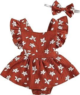 طفل الفتيات رومبير اللباس الوردي مزود ببراعم تكدرت أكمام متعددة للنساء (اللون: برتقالي، مقاس الأطفال: 12M)