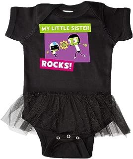 Inktastic My Little Sister Rocks- Dee and Dot Infant Tutu Bodysuit - PBS KIDS
