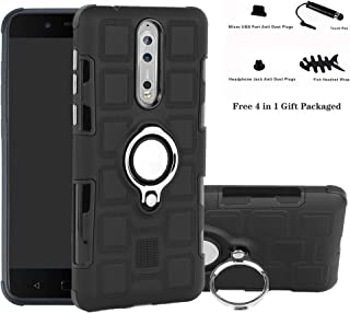 01b95dbd253 Labanema Nokia 8 Funda, 360 Rotating Ring Grip Stand Holder Capa TPU + PC  Shockproof