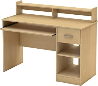 South Shore 7113076 Axess Desk with Keyboard Tray, Natural Maple