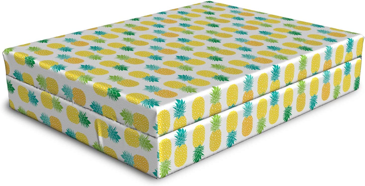 Ambesonne 55% OFF Green and Yellow Dog Bed Fresh Foliage with Bl Hawaii Limited time sale