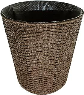 Papelera, lommer 28* 25* 21cm de tejido de hierro marco papelera hogar basura basura papelera sin tapa para dormitorio, cocina, cuarto de baño o en la oficina, café, 25*25*28cm