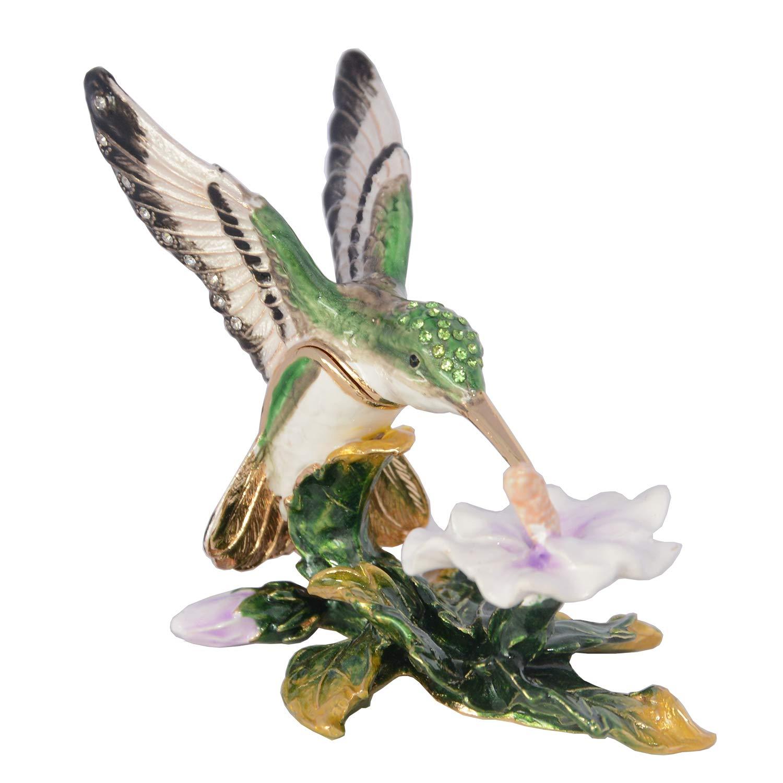 Image of Charming Hovering Hummingbird Trinket Box