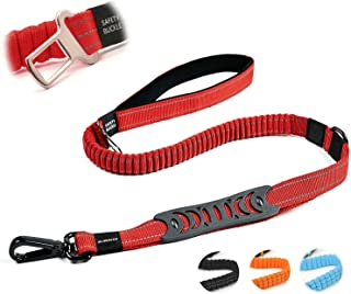 Petvins Heavy Duty Bungee Dog Leash - 5 Ft Reflective Dog Shock Absorbing Training Leash with Double Traffic Handles - Dog Car Seat Belt - Strong Climbing Rope